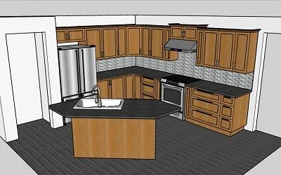فصل 5: طراحی اشپزخانه با استفاده از اسکچاپ